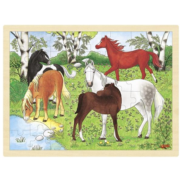 Puzzle de Peças GRANDE Cavalos Selvagens - Goki