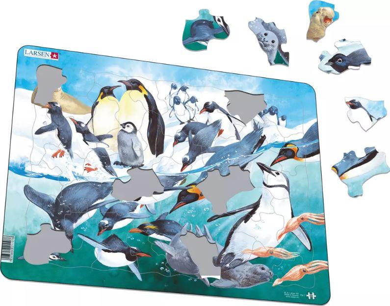 Pinguins Puzzle de Peças - Larsen