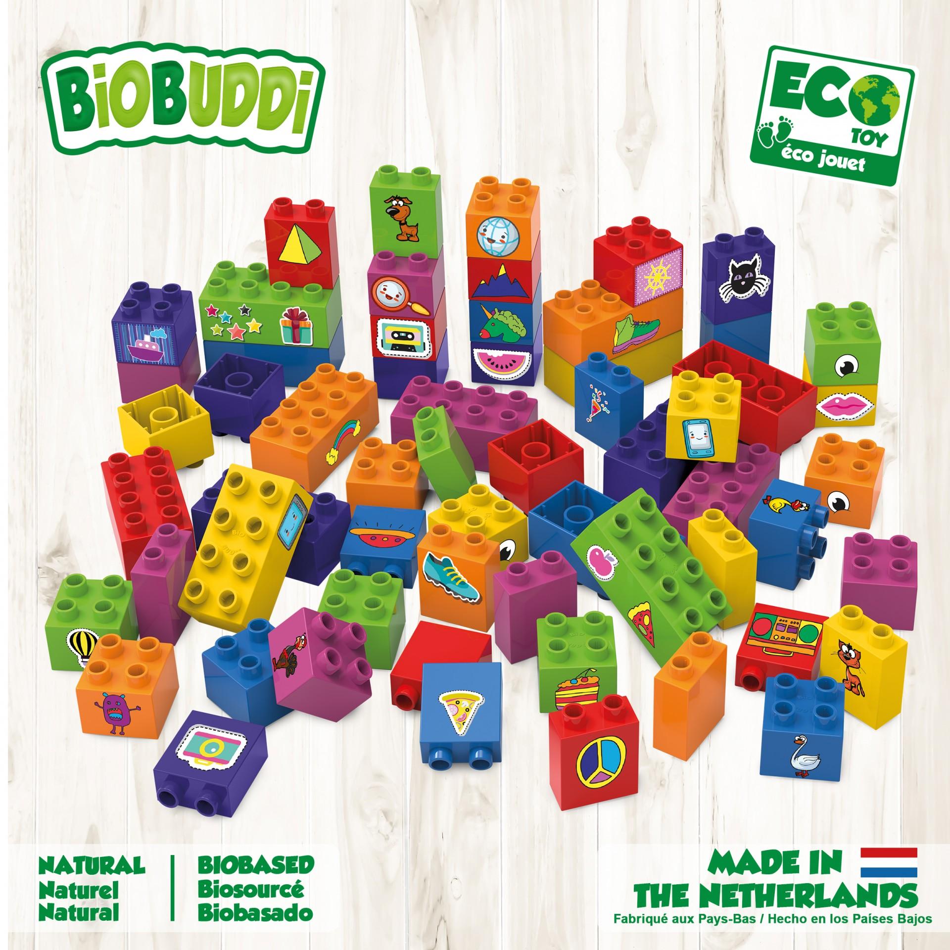 Conjunto de 60 Blocos de Construção - BioBuddi
