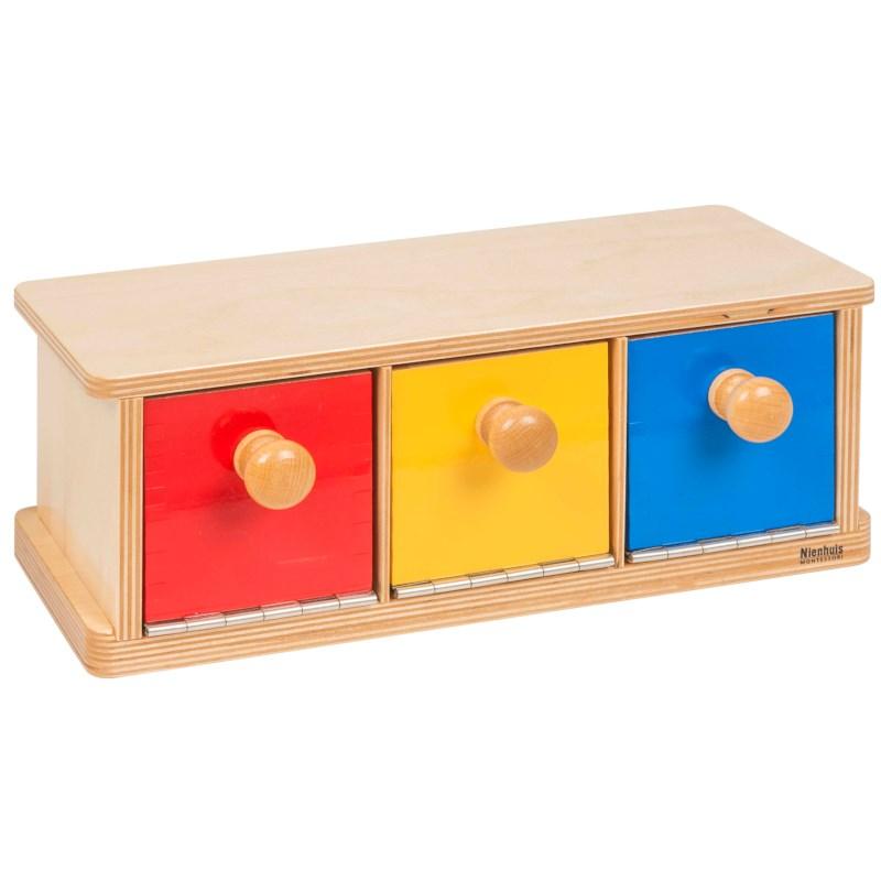 Caixa com 3 Gavetas - Nienhuis Montessori