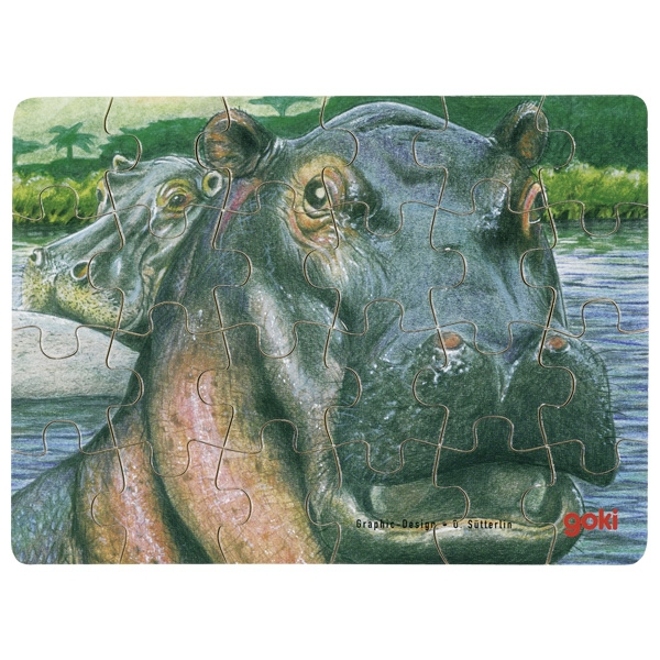 Minipuzzle de Peças Hipopótamo - Goki