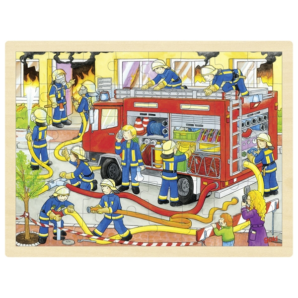 Puzzle de Peças GRANDE Bombeiros - Goki