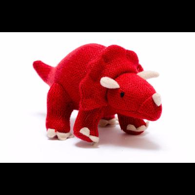 Triceratops Vermelho Mini Roca Tricô - Best Years