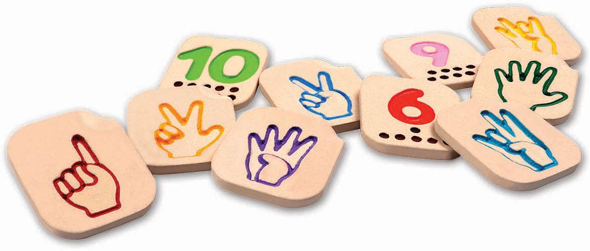Números de 1 a 10 Linguagem Gestual - Plan Toys