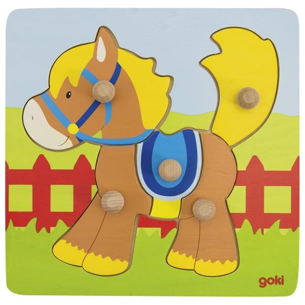 Puzzle de Encaixar Cavalo - Goki