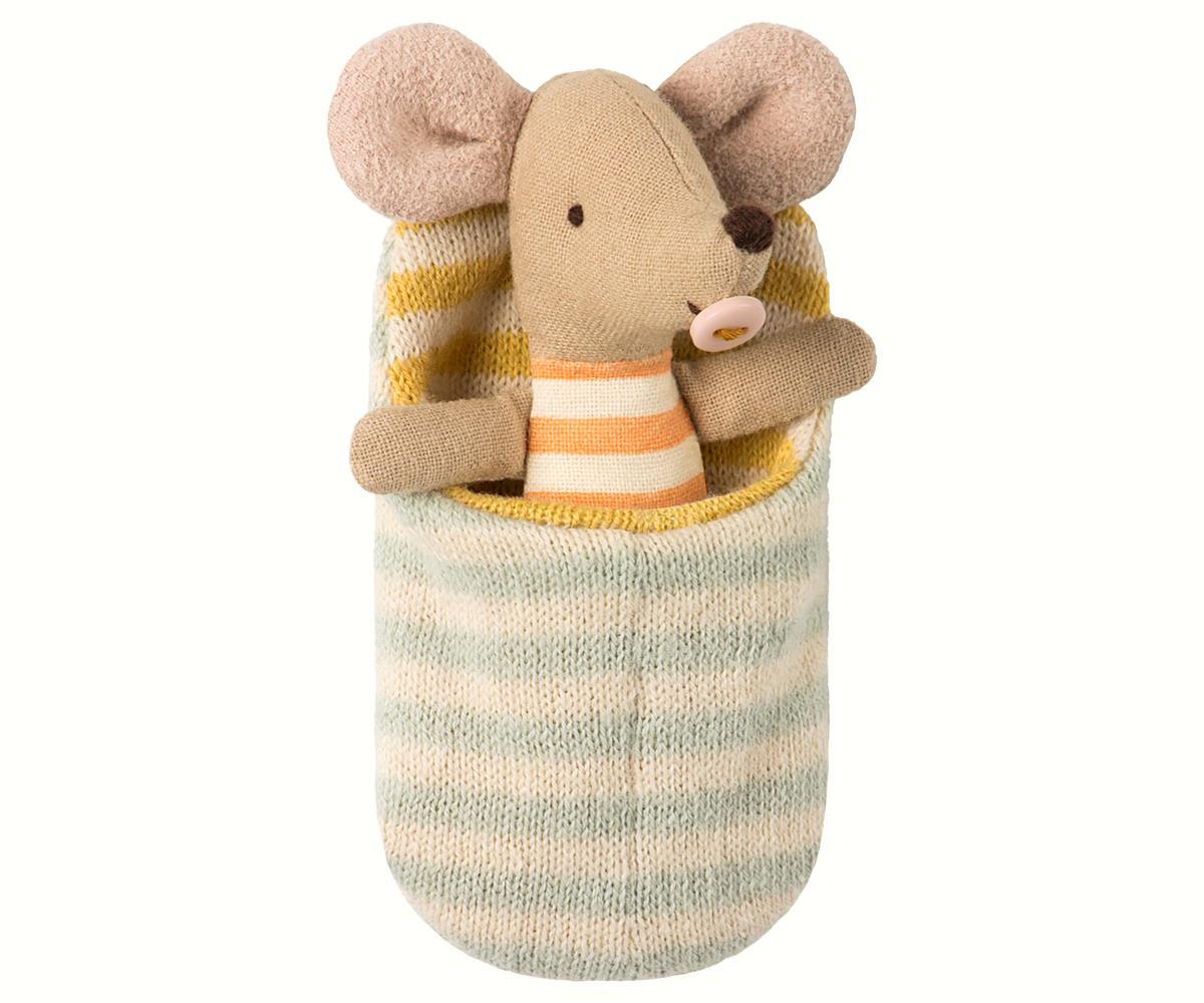 Ratinha Bebé em Saco de Cama - Maileg