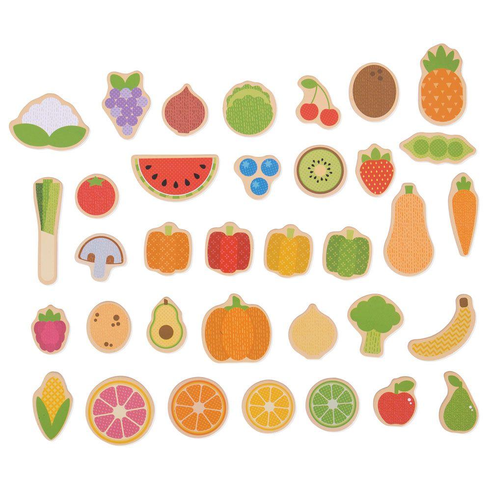 Imã Frutas e Vegetais - BigJigs