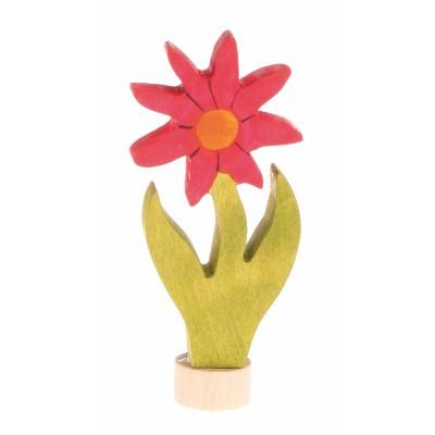 Figura Decorativa Flor Aster Pintado à mão - Grimm's