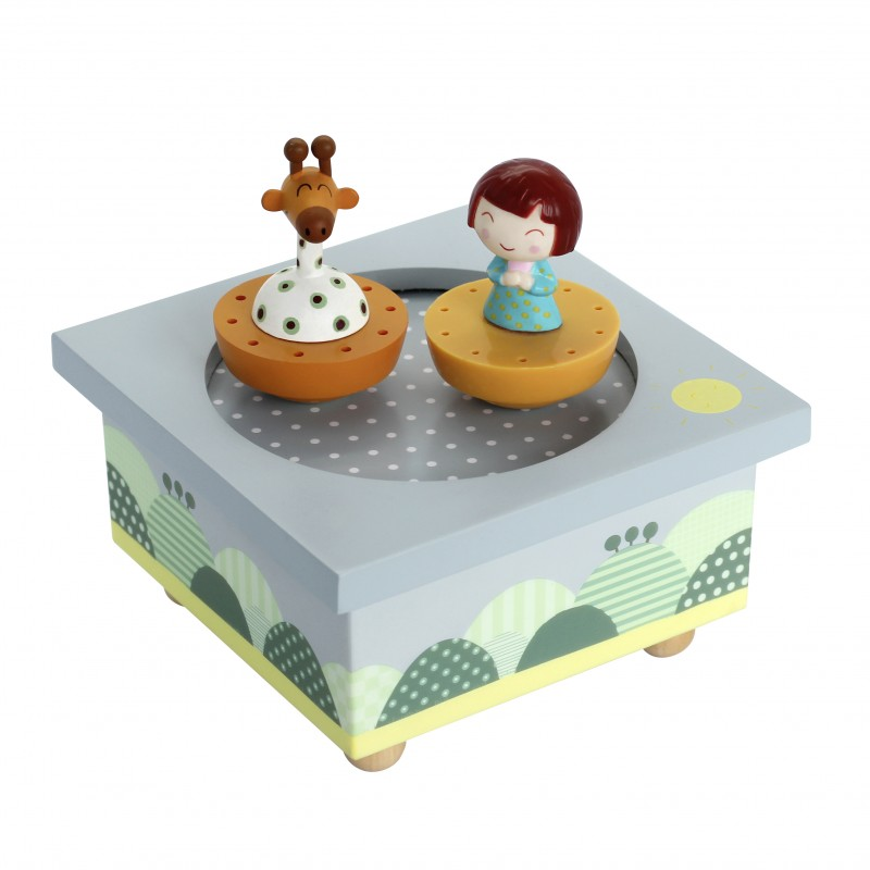 Caixa de Música Girafa & Criança - Trousselier