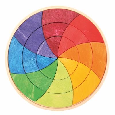 Puzzle Círculo Pequeno Colorido Colour Goethe - Grimm's