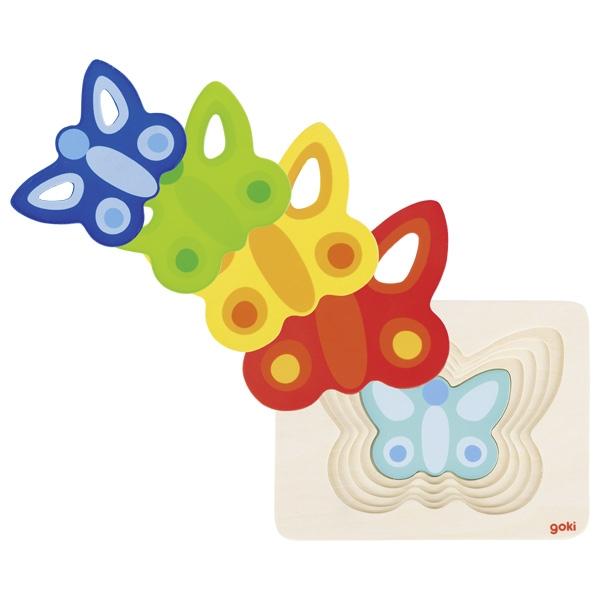 Borboleta Puzzle em Camadas - Goki