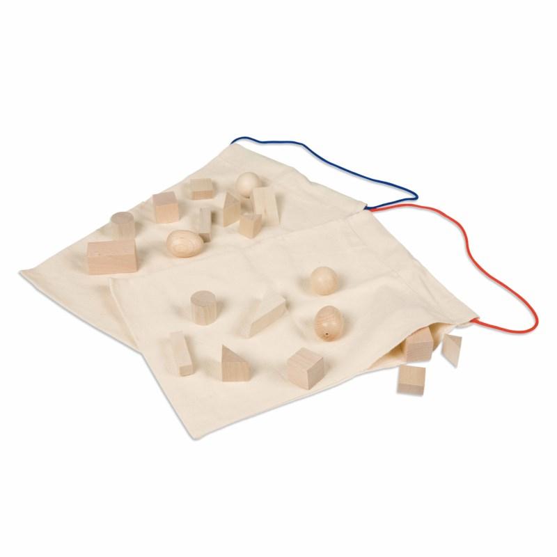 Saco de Reconhecimento: Sólidos Geométricos - Nienhuis Montessori