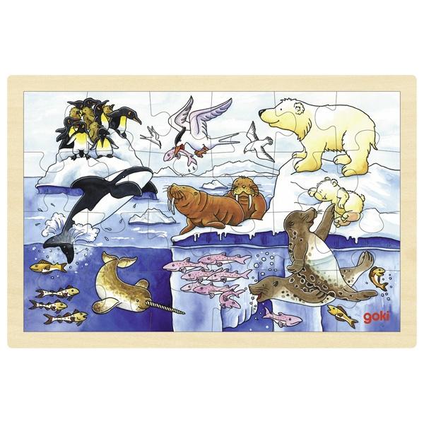 Puzzle de Peças Médio Animais Ártico - Goki