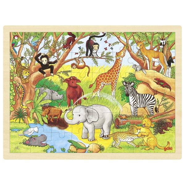 Puzzle de Peças GRANDE Animais de África - Goki