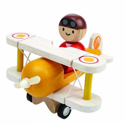 Avião Clássico com Piloto - Plan Toys