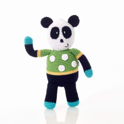 Peluche Crochet e Roca Panda - Pebble