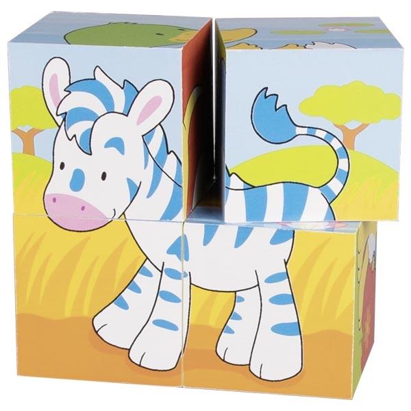 Puzzle de Cubos Animais I - Goki
