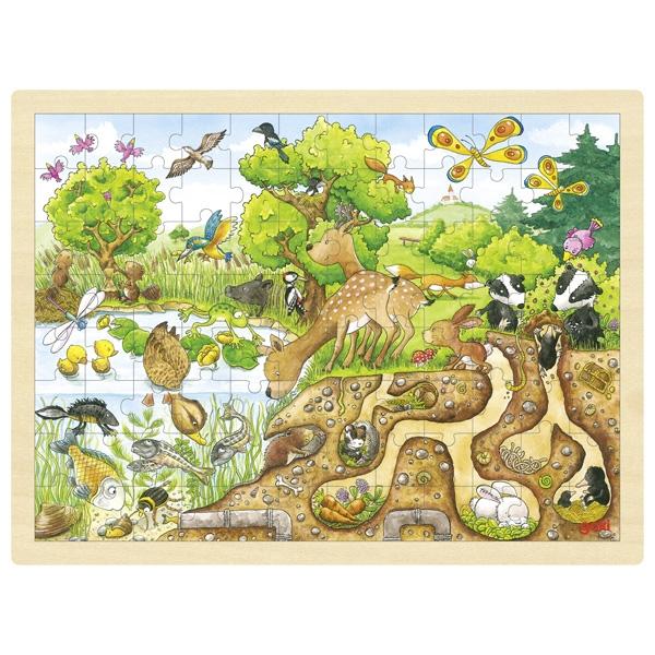 Puzzle de Peças GRANDE Exploração Natureza - Goki