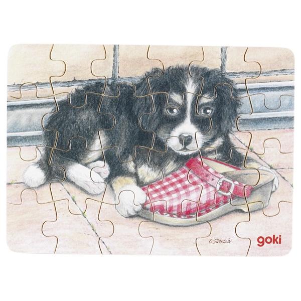 Minipuzzle de Peças Cão Sapato - Goki