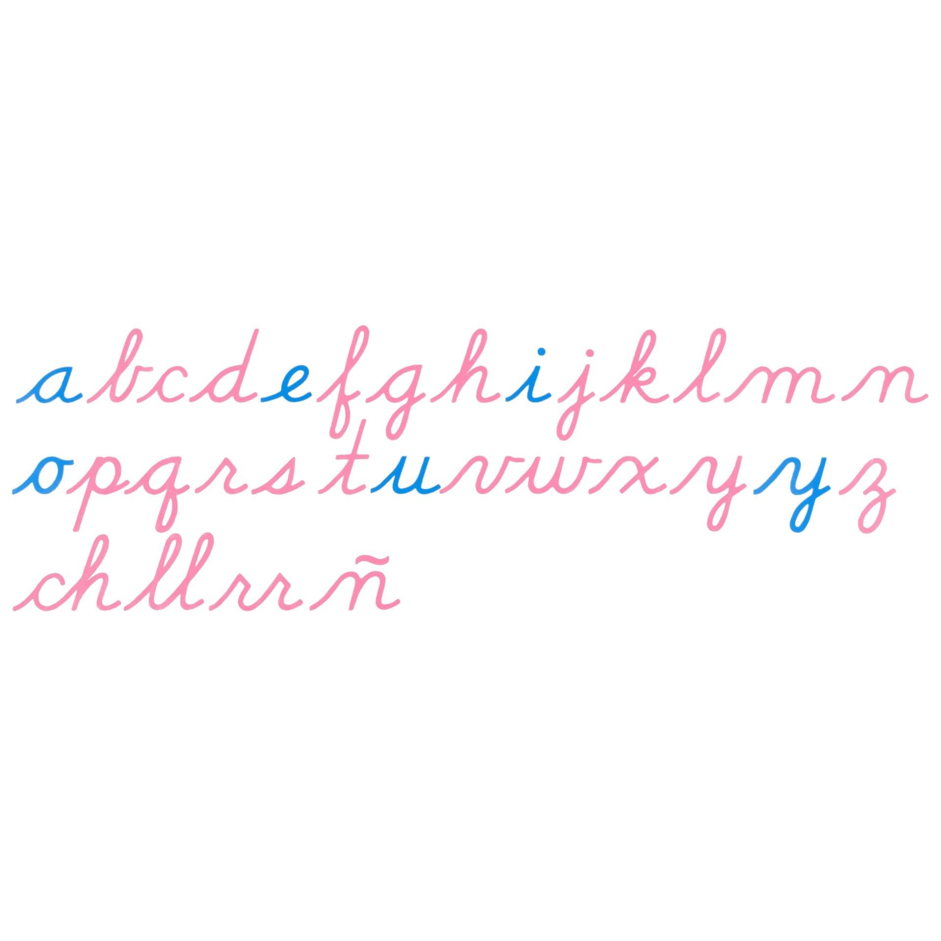 Alfabet Móvel Letra Cursiva US - Nienhuis Montessori