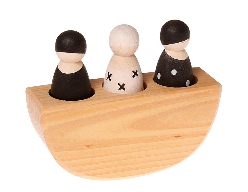 3 Amigos no Barco, preto e branco - Grimm's