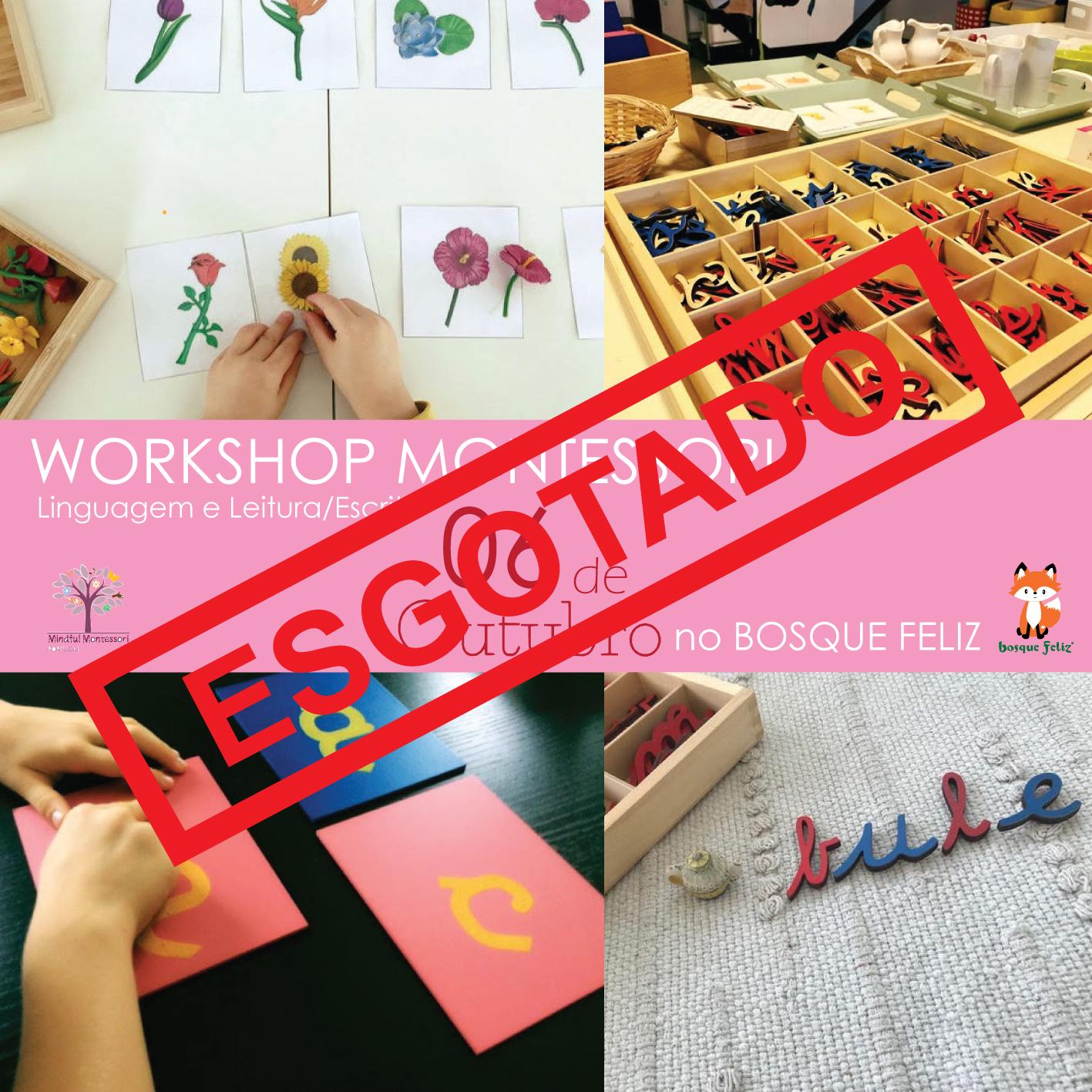 Workshop Linguagem e Aprendizagem da Leitura/Escrita em Montessori  - 06 de Outubro