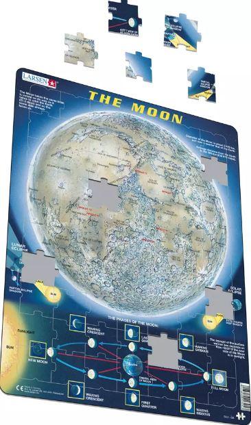 A Lua Puzzle de Peças - Larsen