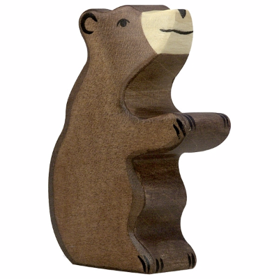 Urso Pardo Bebé Sentado - Holztiger