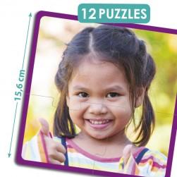 Puzzles Crianças Felizes do Mundo - Akros
