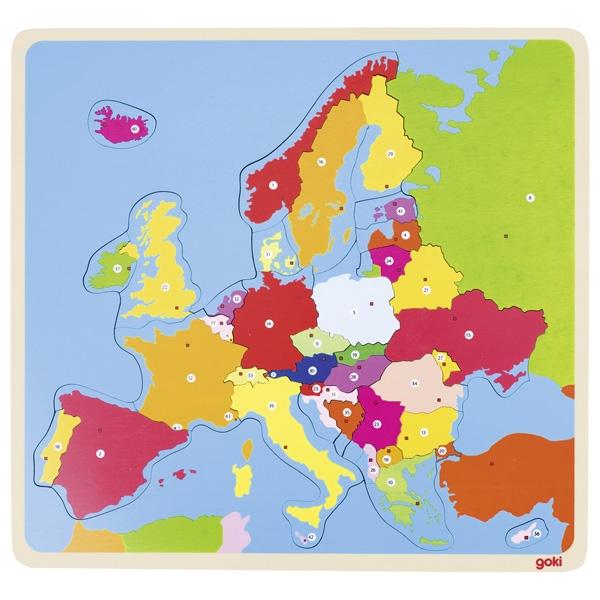 Puzzle de Peças Europa - Goki