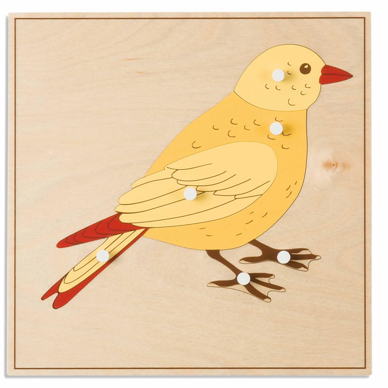 Puzzle Animal: Pássaro - Nienhuis Montessori