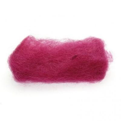 Lã Natural de Feltrar Vermelha 25gr - Gluckskafer