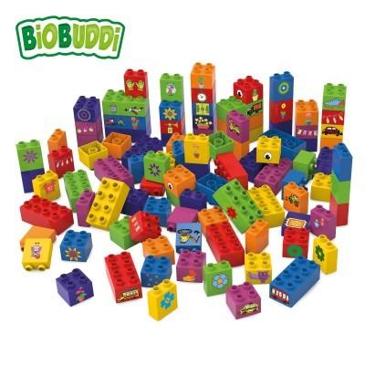 Conjunto de 100 Blocos de Construção - BioBuddi