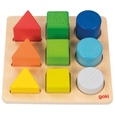 Puzzle Cores e Formas - Goki
