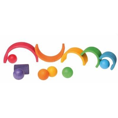6 Bolas de Madeira Arco-Íris - Grimm's