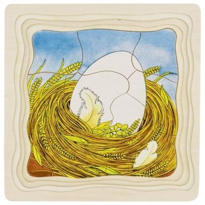 Puzzle em Camadas o Ovo e a Galinha - Goki