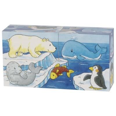 Puzzle de Cubos Savana e Ártico - Goki