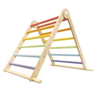 Triângulo Pikler TriClimb Arco-Íris Pastel Duplo