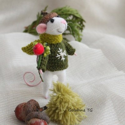 Lã Natural de Feltrar Verde Claro Escuro 25gr - Gluckskafer