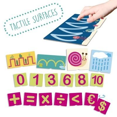 Cartão Tátil de Números e Pré-Escrita - Akros