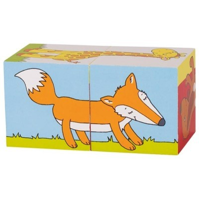 Puzzle de Cubos Animais - Goki