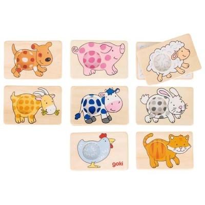 Jogo da Memória padrões dos animais - Goki