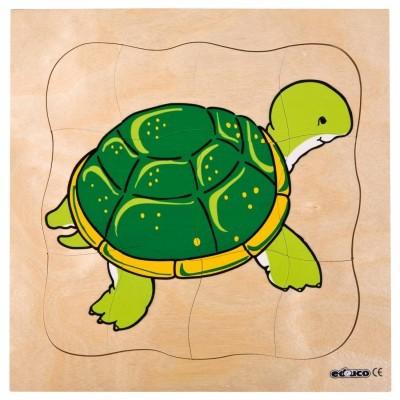 Puzzle em Camadas Tartaruga - Educo