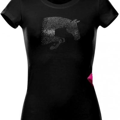 """T-shirt de Senhora EQUI-THÈME """"Jump Star"""""""