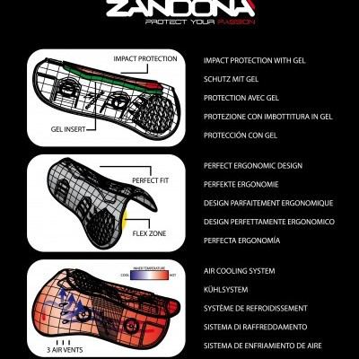 Caneleiras ZANDONÀ Superior Air Velcro