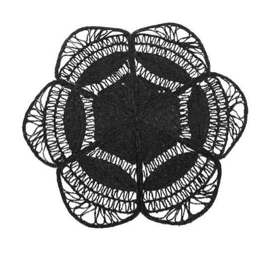 Tapete Flower Preto