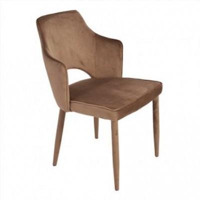 Cadeira Sun Veludo Castanho