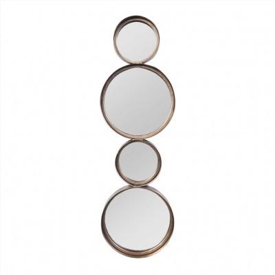 Espelho Círculos Dourado