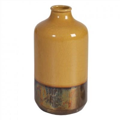Vaso Wood Amarelo