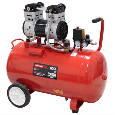 Compressor de Ar Silencioso 100L 2HP